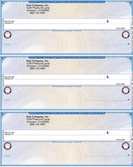 QuickBooks Standard Checks