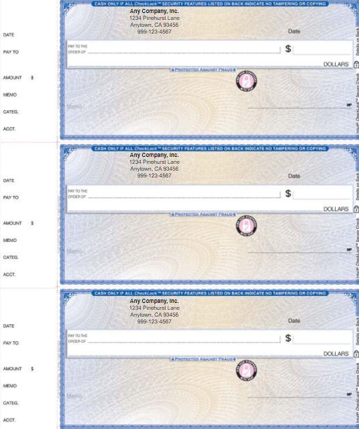 QuickBooks Wallet Checks