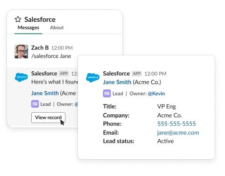 Slack and Salesforce integration