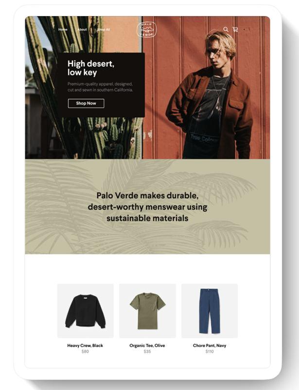 Screenshot of Square Online mobile-responsive online store sample