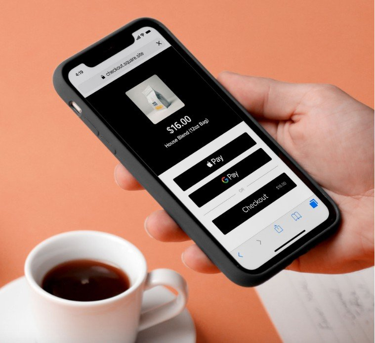 Square's checkout mobile interface