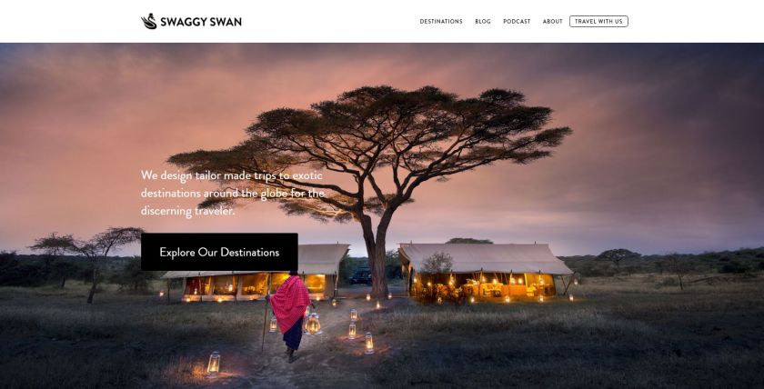 Swaggy Swan website