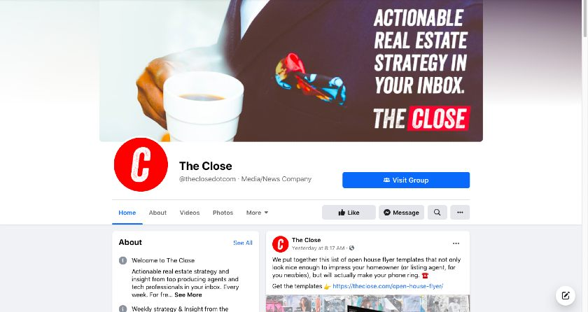 TheClose Facebook page