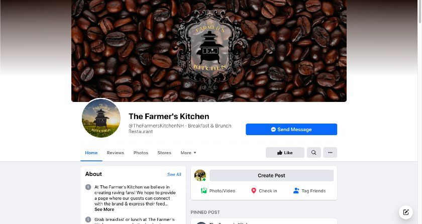 The Farmers Kitchen Facebook page