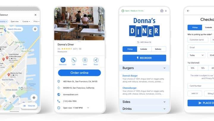 Screenshot of The Ordering mobile app