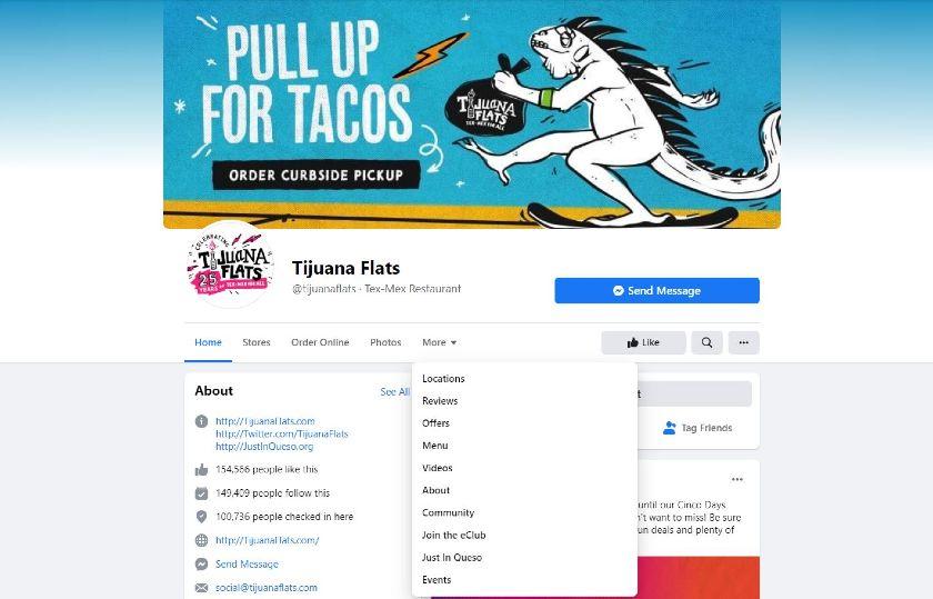 Tijuana Flats Facebook page