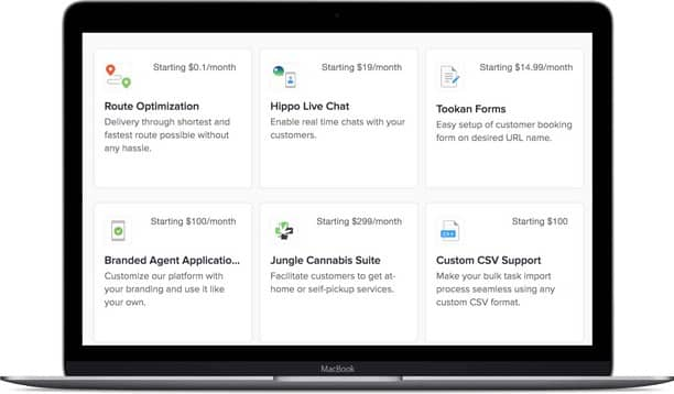 Screenshot of Tookan add-on library