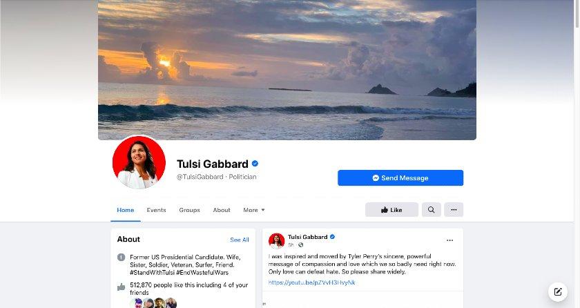 Tulsi Gabbard Facebook page