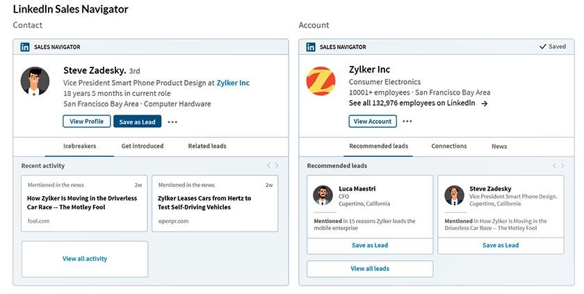 Zoho CRM and LinkedIn Sales Navigator Integration