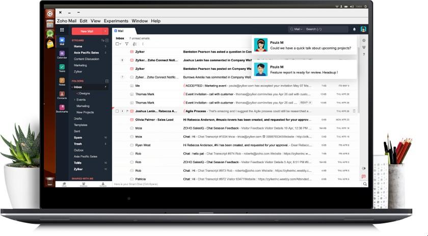 Zoho Mail Interface
