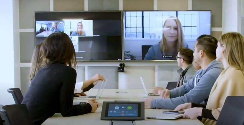Screenshot of Zoom team on meeting