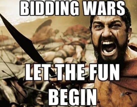 Screenshot of Bidding Wars Meme