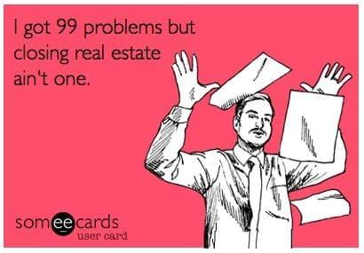 Screenshot of Closing Real Estate Meme