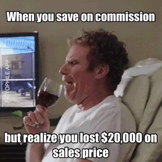 Screenshot of Example of Bad FSBO Sale Meme