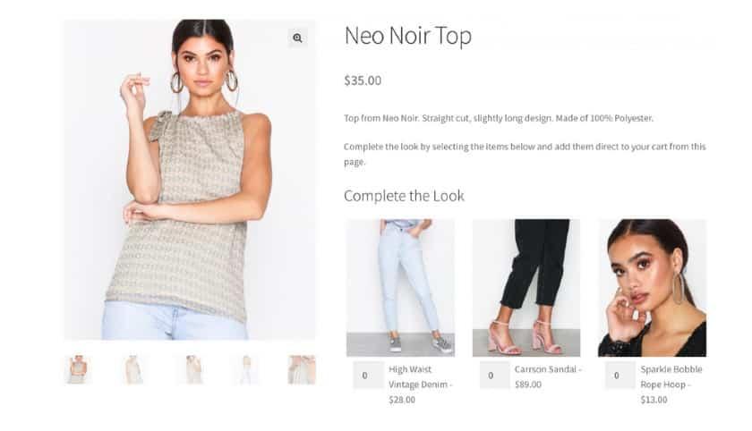 Screenshot of Neo Noir Top Wear