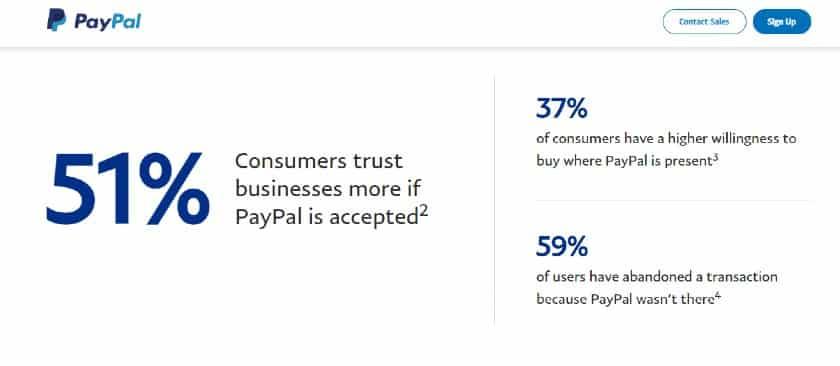 Screenshot of PayPal Customer Base