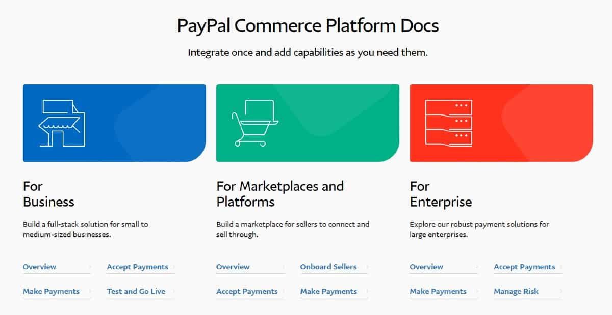 Screenshot of PayPal User-Friendly Development Section