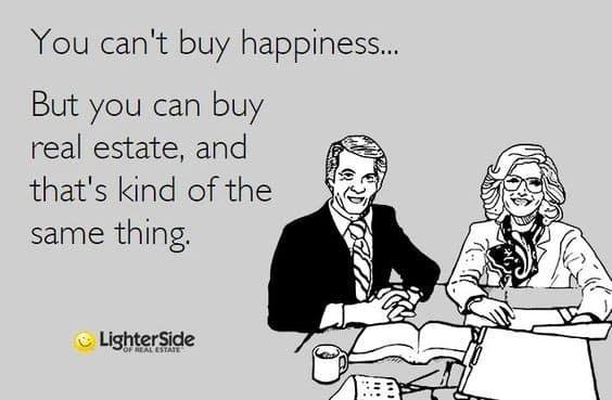 Screenshot of Real Estate is Happiness Meme