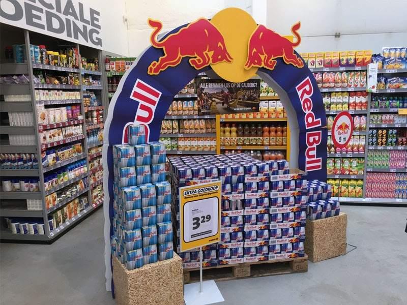 Screenshot of Red Bull Display