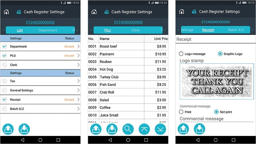 Screenshot of Setting Up and Updating Products Prices From The Casio ECR+ App