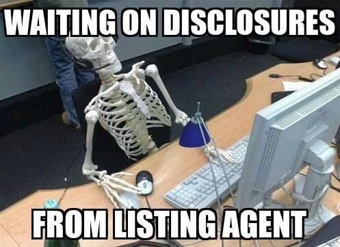 Screenshot of Waiting on Disclosures Meme