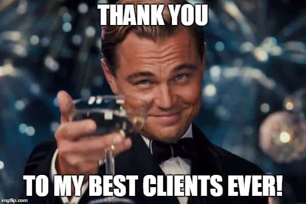Screenshot of We Love Our Clients Meme