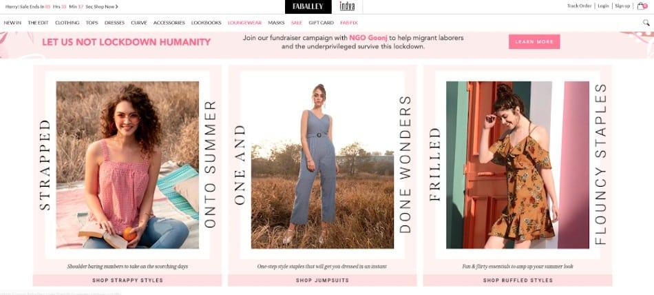 Screenshot of Website Homepage Lifestyle Scenes