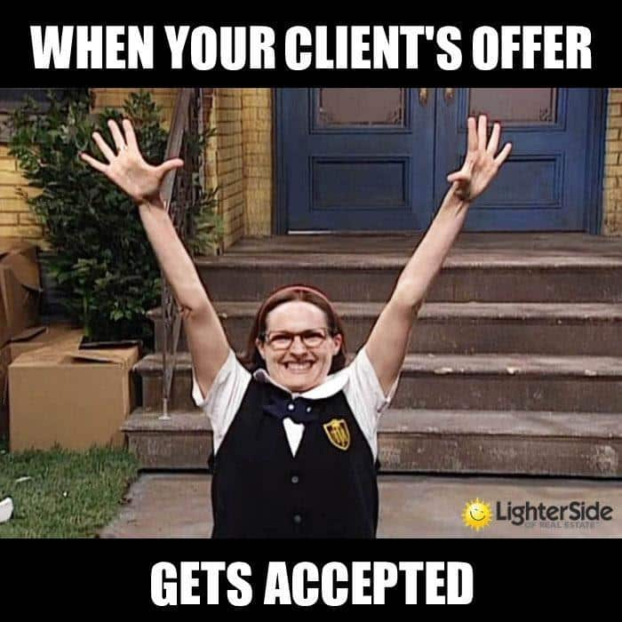 Screenshot of When Your Client's Offer Get Accepted Meme