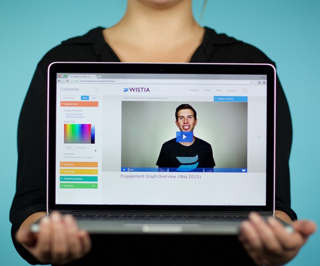 showing Video From Wistia on a laptop screen