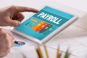 learning payroll on a tablet