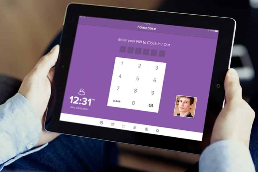 Time and Attendance Software on a Tablet