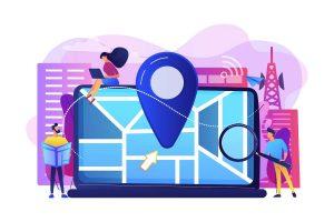 Local Search Engine Optimization Concept Illustration
