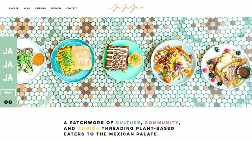 Screenshot of Jaja Mexicanas website