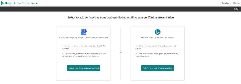 Add Business on Bing Places