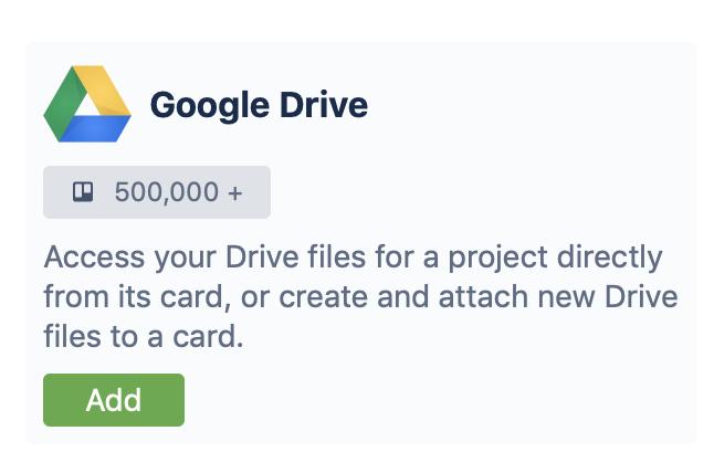 Adding a Google Drive Power-up