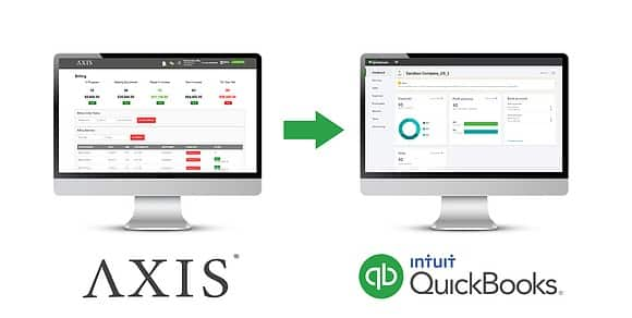 Screenshot of Axis TMS Axis vs QuickBooks