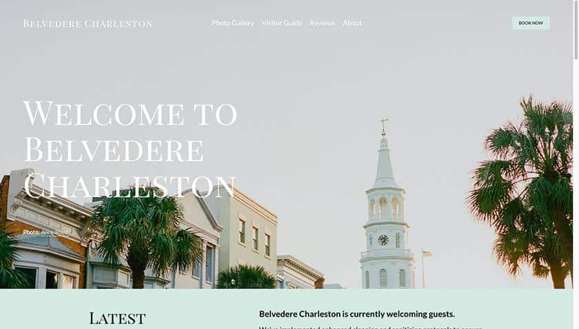 Screenshot of Belvedere Charleston