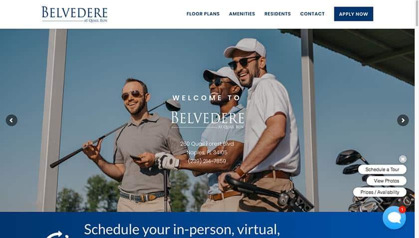 Screenshot of Belvedere at Quail Run
