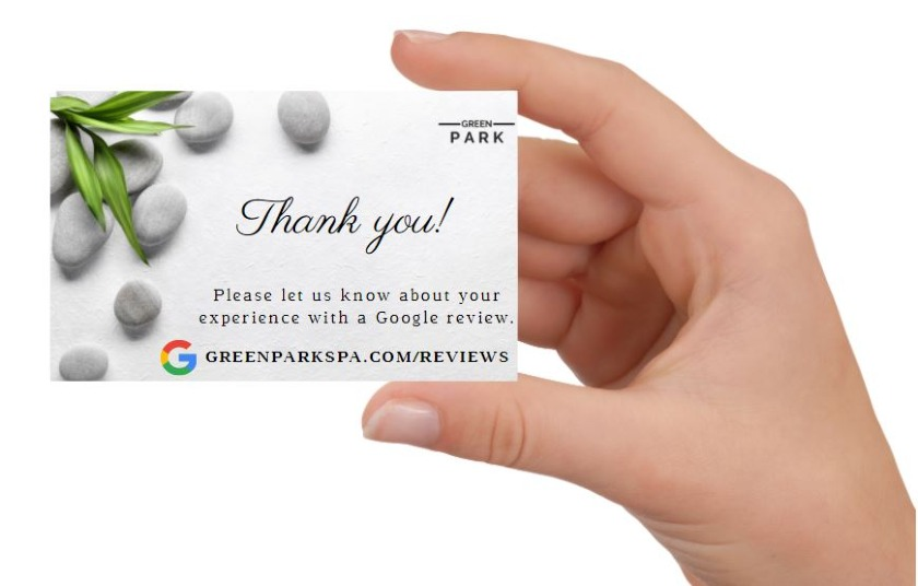 Business Card with Thank you message and Google review link