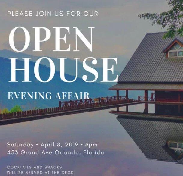 Canva single listing image open house invitation