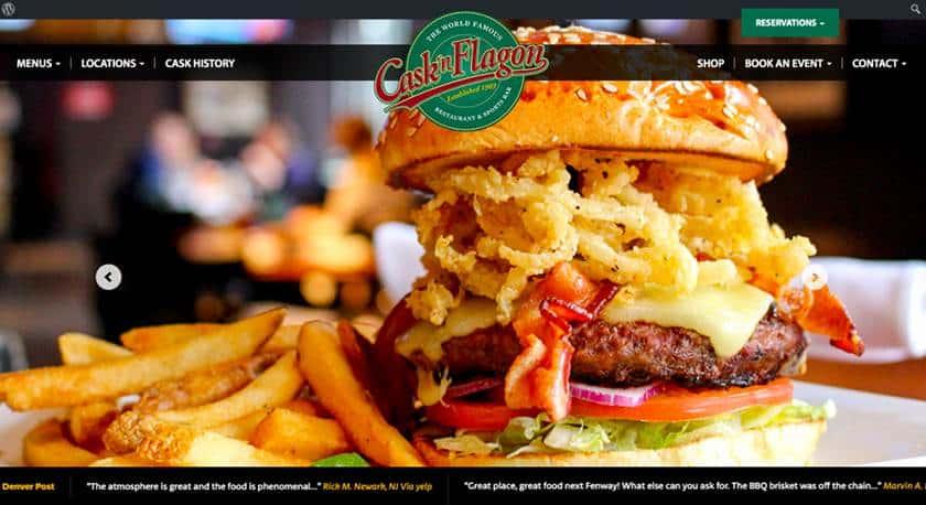 Screenshot of Cask 'n Flagon website