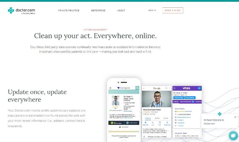 Doctor homepage