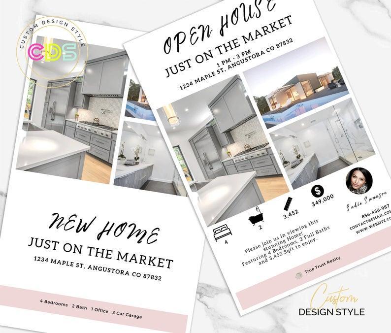 Etsy Custom Design Style open house invitation