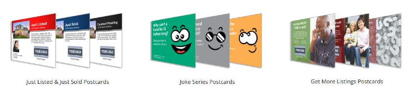 Screenshot of Examples of Postcard Mailers from ProspectPLUS!