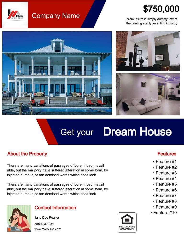 Flyerco Real Estate property features flyer
