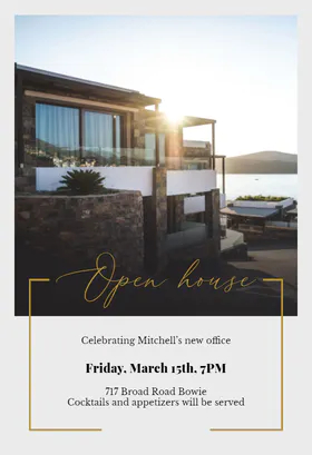 Greetings Island New Era Open House Invitation