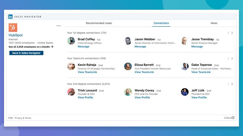 Hubspot and LinkedIn Sales Navigator_Integration connections tab