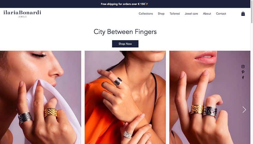 Screenshot of Ilaria Bonardi website