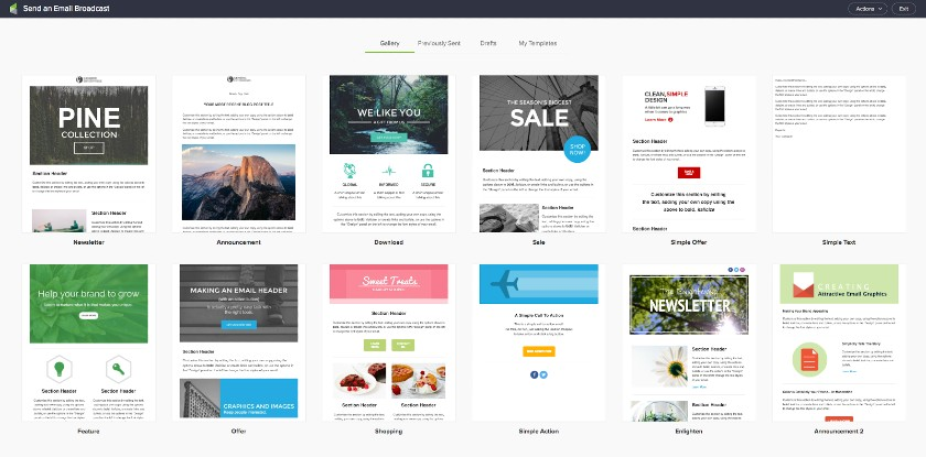 Keap email campaign templates