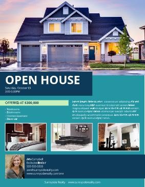 LucidPress Suburban Open House Flyer Template